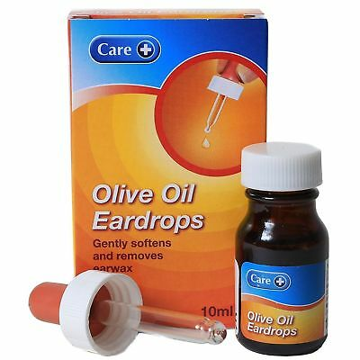 100% Extra Virgin Olive Oil Ear Drops, Soften, removes Earwax, with Dropper