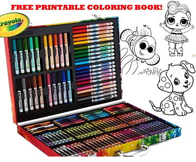 Inspiration Art Set Case 140 Pcs Kids Craft Crayons Drawing Coloring Kit