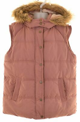 FAT FACE Girls Padded Gilet 12-13 Years Pink Polyester  NM15