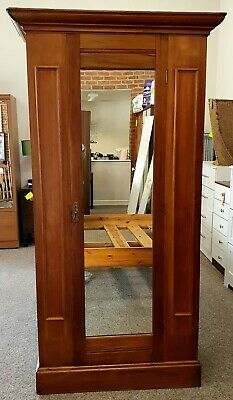 Edwardian Double Wardrobe with Mirror Door
