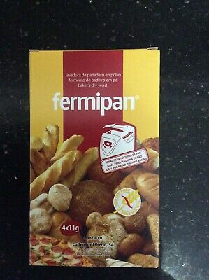 Fermipan FACTORY SEALED INSTANT Dried Yeast, Bakers, Bakery,Bread  4+11g new