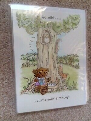 Go Wild It/'s Your Birthday Bear Gold Embedded Female Male Child