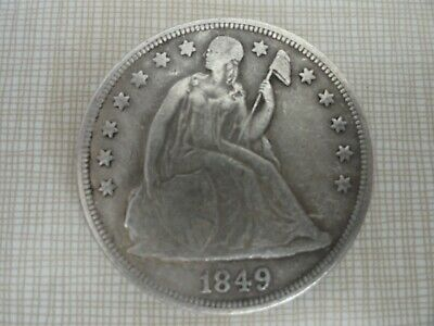 1849 Liberty Seated Silver Dollar - Very nice