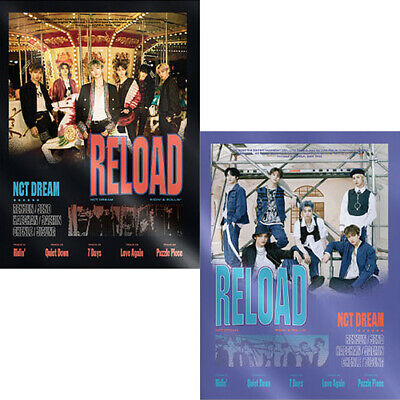 NCT DREAM RELOAD 4th Mini Album CD+POSTER+Book+F.Poster(On)+2Card+GIFT