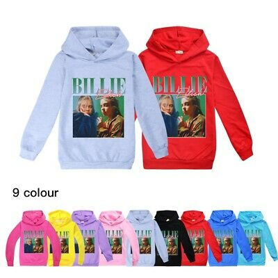 Billie Eilish Hoodies Kids Children Long Sleeve Hooded Jumper Tee Tops Age 2-16