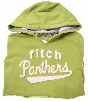 ABERCROMBIE & FITCH Girls Hoodie Jumper 15-16 Years XL Green Cotton  BR04