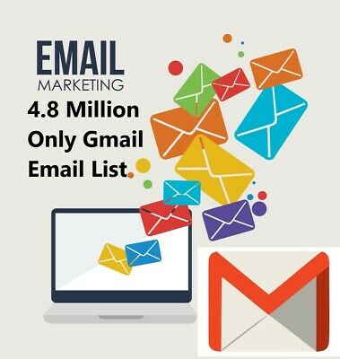 4.8 Million Email List (GMAIL) only ✔️✔️ Consumer Email List Sales database ✔️