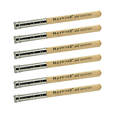 Raffine 6PCS Wooden Handle Pencil Extender Holder Pencil Lengthener Tool 6-Pack