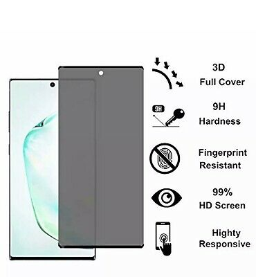 Privacy Screen protector Tempered Glass For Samsung Galaxy Note10 /Note 10 Plus