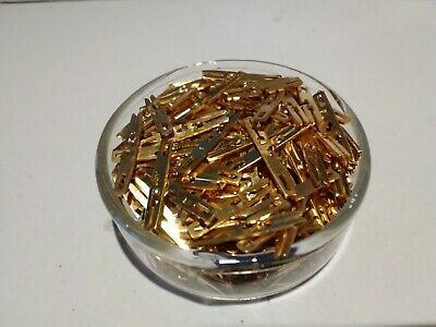 GOLD SCRAP RECOVERY 1//2 POUND MILITARY GRADE GOLD PLATED RF CONNECTORS//CONTACTS