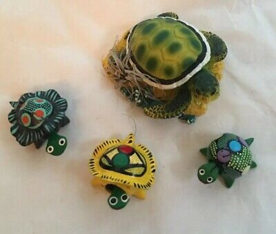 Bobble Head Turtles Mexican Toy set of 4
