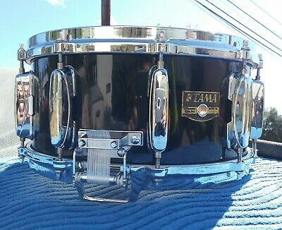 Tama Artwood AW216 Piano Black 6.5x14 Roller Bed Birch Die Cast Hoops Snare Drum