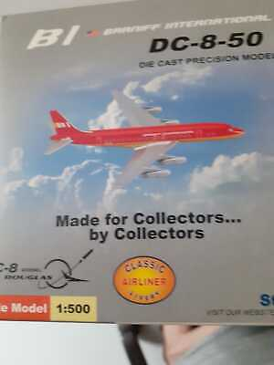 New Star Jets 1/500 BI Braniff International Red DC-8-50  Diecast Model