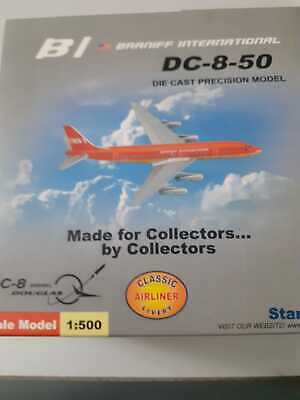 New Star Jets 1/500 BI Braniff International Orange DC-8-50 Diecast Model