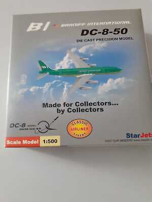 New Star Jets 1/500 BI Braniff International Green DC-8-50 Diecast Model