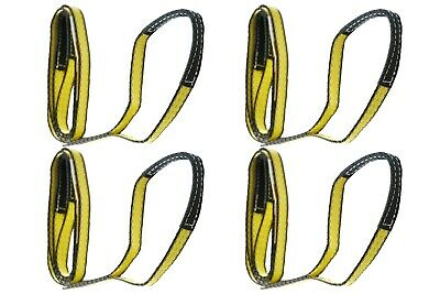 """4 Pack - 1"""" x 3 FT 2-Ply ADVANT-EDGE 9800# Lifting Slings Reinforced Eyes Poly"""