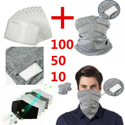 Reusable Washable Activated Carbon Filter With Face Bandana Filters Face Filter
