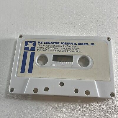 Joe Biden For President 1988 California Democratic Convention Speaking Cassette