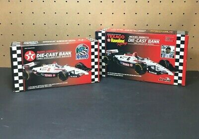 1994 & 1995 Mario Andretti, Texaco Indy Car Bank, diecast 1/24 scale Lot of 2