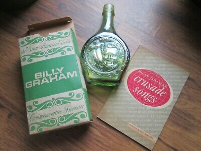 Billy Graham Commemorative Wheaton Decanter Bottle & Crusades Song Book