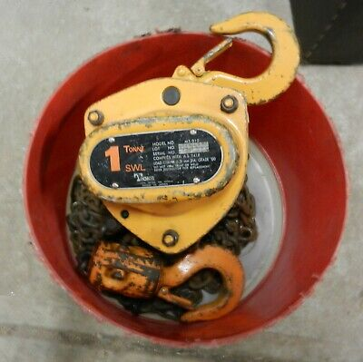 Chain Hoist PWB Anchor Chain Block 1 Tonne 3 metre Chain Winch Lifting Block