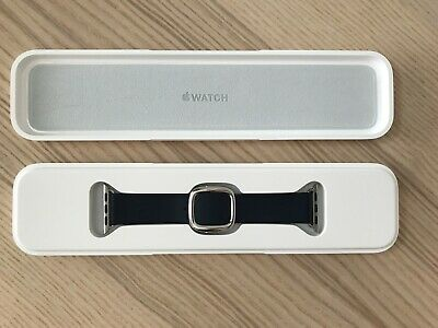 Apple Modern Buckle Watch Band - Midnight Blue Leather - 38mm - Small MJ5A2ZM/A
