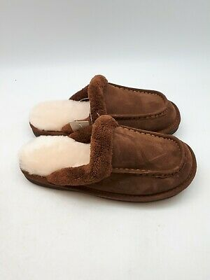 NukNuuk Men's Leather Slippers | Size 9 | Brown (NUK23)