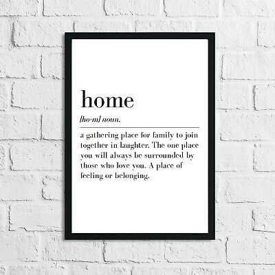 Home Quotes Wall Art Frameless Prints Funny Modern Living Room Lounge Decor Gift