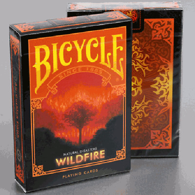 "Mazzo di carte Bicycle Natural Disasters ""Wildfire"" Playing Cards"