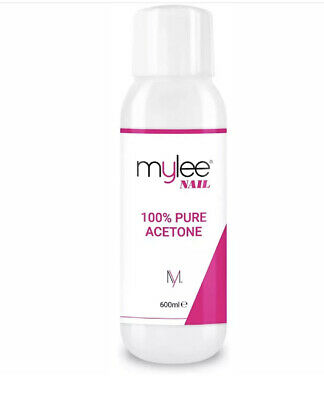 Mylee 100% Pure Acetone 600ml Superior Quality Nail Polish Remover UV/LED GEL