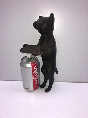 LARGE Metal CAT Server Sculpture Vintage Antique