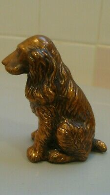 Vintage Copper/Metal Miniature Cavalier King Spaniel Dog Figurine