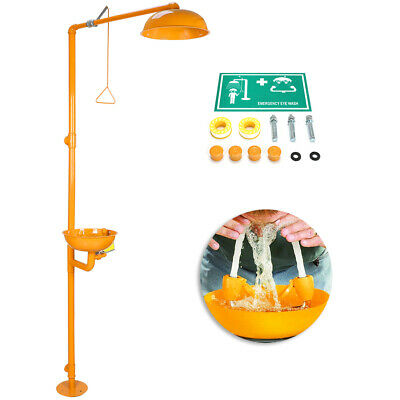 ABS Coating Combination Shower Emergency Eyewash Station 0.2-0.6MPa Stain Steel