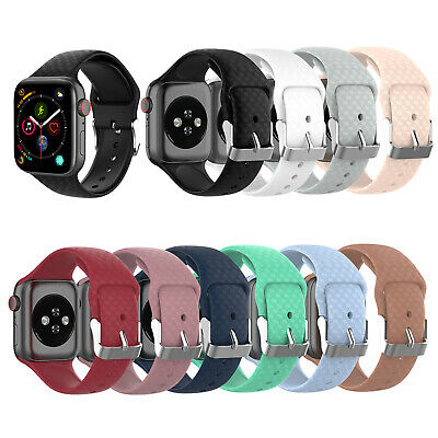 Replacement Silicone Soft Sports Strap Band For Apple Watch Series 5/4/3/2/1