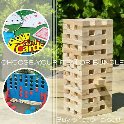 Outdoor Games: Choose Jenga Tower Blocks, Connect 4 or Card Summer Garden Kids