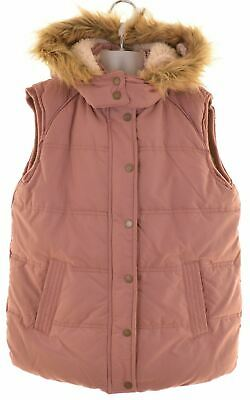 FAT FACE Girls Padded Gilet 12-13 Years Pink Polyester  EY15