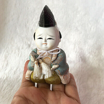 Antiques Traditional Vintage Japanese Tiny Hina Ningyo Angry Emperor Doll Crafts
