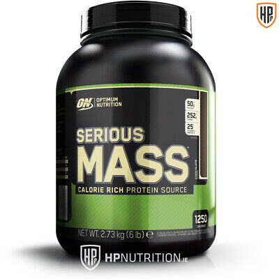 OPTIMUM NUTRITION ON SERIOUS MASS GAINER 2.7KG PROTEIN (Chocolate) * BB 31/07/20