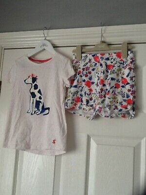 Girls Joules bundle - shorts and T shirt age 7-8 years