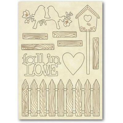 Wooden Shape A5  STAMPERIA - KLSP026  fall in love