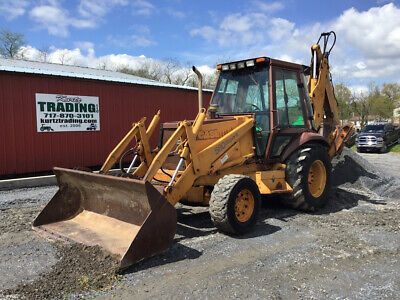 1993 Case 580SK 4x4 Tractor Loader Backhoe w/ Cab & Extend-A-Hoe Only 1000Hrs!
