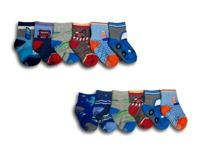 Baby Boys ABS Anti Slip Non Slip Cotton Socks Size 6 Months to 4 Years 6 Pairs