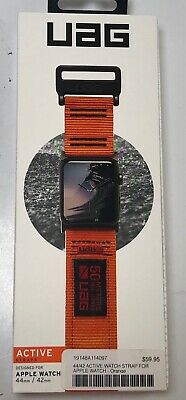 UAG Active Band Strap for Apple Watch 44 & 42mm Series 5/4/3/2/1 (Orange)  MV711