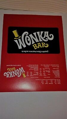 100 Willy Wonka Chocolate Bar Wrapper +100 Golden Ticket(chocolate not included)