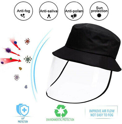 Protective Clear Full Face Cap Removable Anti-dust Saliva Windproof Hat