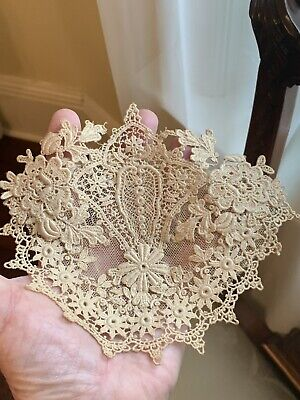 Rare Antique Embroidered Lace Applique' 1900