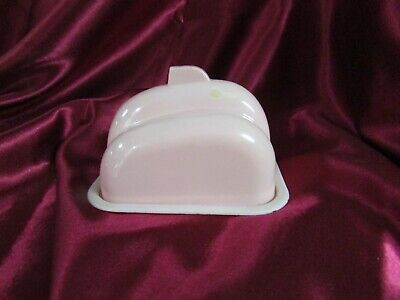 Art Deco Pink Bakelite Butter Dish Made In England