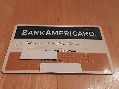 Vintage Credit Card Bank Americard Bank of the Southwest Houston Texas Exp. 1972