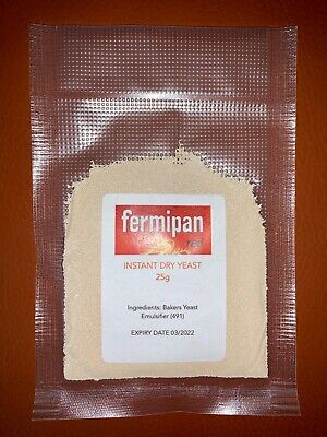 Fermipan Red Instant Dried Yeast 25g Baker Bakery Baking Bread Vegan FREE P&P