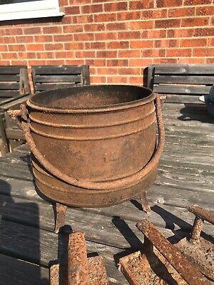 Antique Cast Iron Cooking Pot French Early 1900s